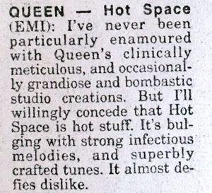 Hot space stuff
